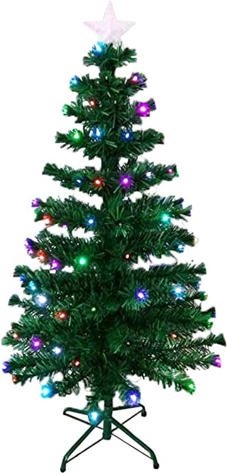 holiday essence 4 ft prelit led artificial christmas tree with solid metal legs 4 foot - Prelit Led Christmas Trees