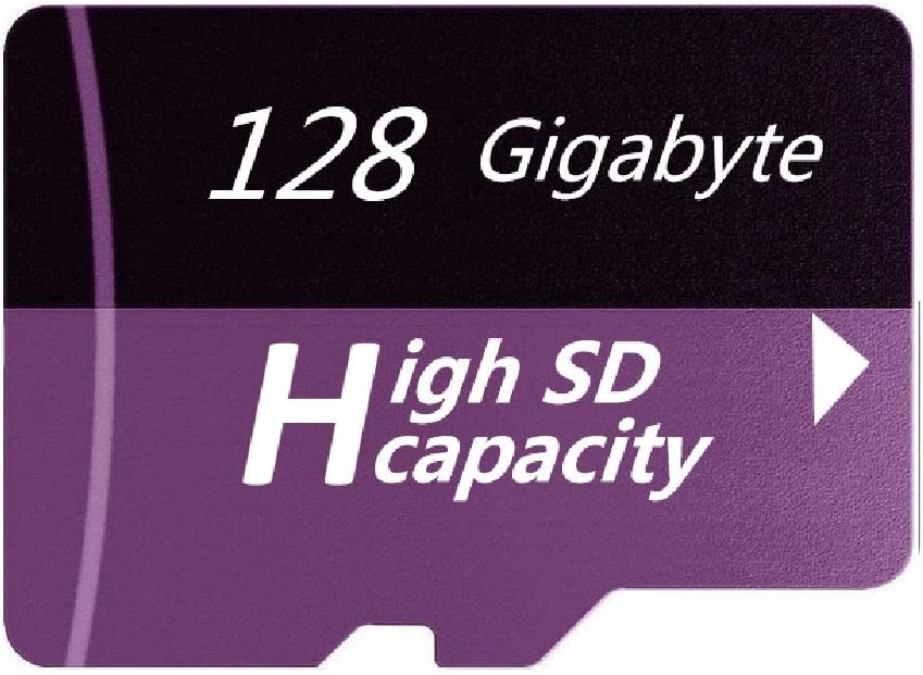 Designed for Smartphones Tablets Memory Card High Speed Class 10 128GB Purple Micro Memory SD Card