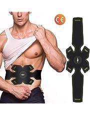 Mrzyzy Electroestimulador Muscular, Abdominales Eléctrico Cinturón, Masajeador Eléctrico Cinturón, EMS Estimulador, Abdomen/Brazo/Piernas/Cintura Entrenador Muscular