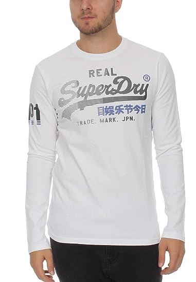 Superdry Longsleeve Herren Vintage Logo 1ST Duo LS Optic