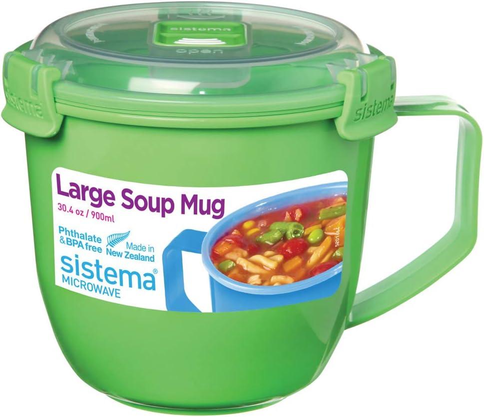 Green Sistema Microwavable Large Soup Mug 900ml