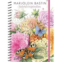 Marjolein Bastin 2019 Monthly/Weekly Planner Calendar: Nature's Inspiration