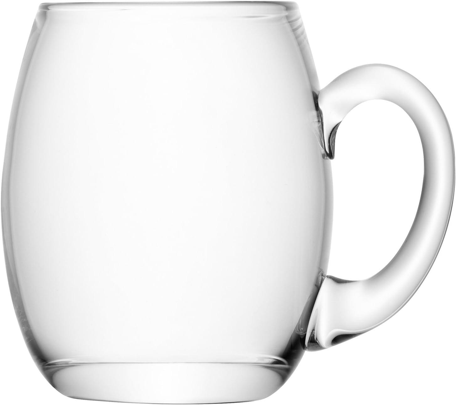 LSA International - Bar - Jarra de cerveza de cristal, 500ml, Transparente