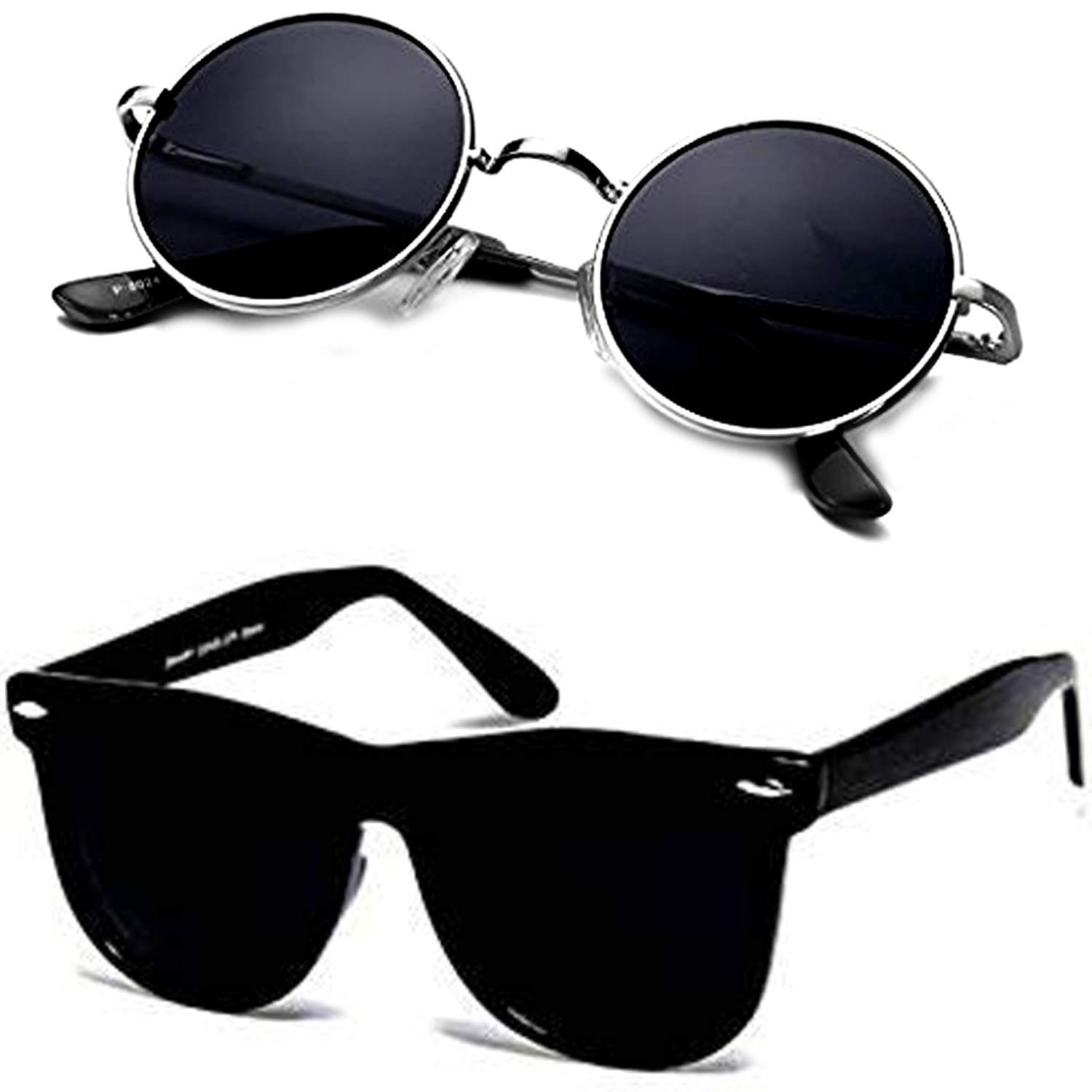Buy Ivonne new Collection Men's Sunglasses Black pack 2 at Amazon.in