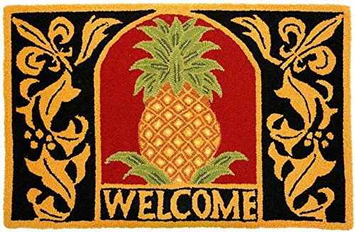 Homefires Accents Welcome Pineapple Indoor Rug, 22-Inch by 34-Inch