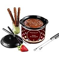 NOSTALGIA - MyMini. Fondue de Chocolate Electrico. Mini Dipping Pot. Color café C2009