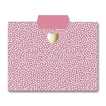 Embellished w// Gold Foil on Durable Triple-Scored Coated Cardstock Graphique Blush Marble File Folder Set File Set Includes 9 Folders and 3 Unique Important Designs 11.75 x 9.5