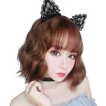 Amazon Com Bestlee Women Korean Style Synthetic Hair Short Bob Wavy