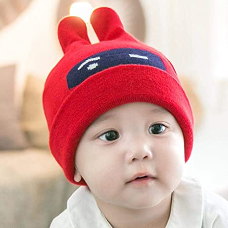 7d4af014 Image Unavailable. Image not available for. Color: Myzixuan Autumn and Winter  New Baby Pullover Cap Children's Sweater Cap Baby hat ...
