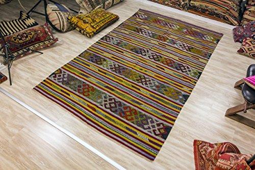 Oushak Kilim , Vintage Kilim Rug 5.51x8.89 ft (168x271 cm)