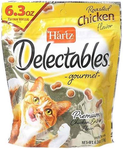 Hartz Delectables Gourmet Cat Treats Roasted Chicken Premium Flavor 6.3 Ounce