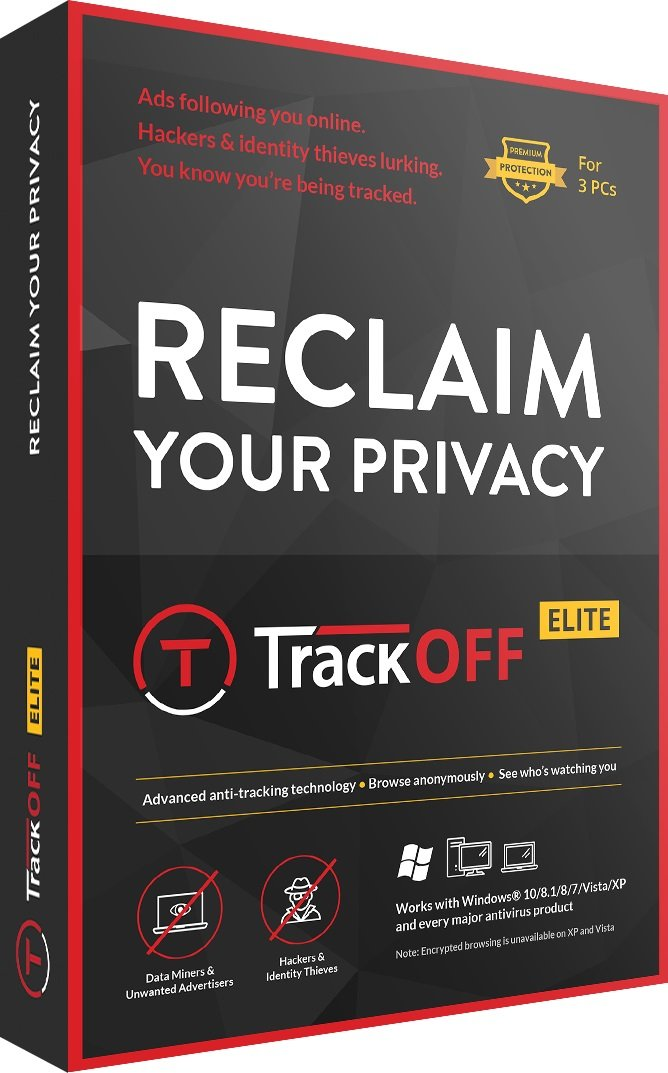 TrackOFF Elite VPN and Online Privacy Protection Software, 1 Year (3-Users) by TrackOFF