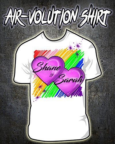 Personalized Airbrushed Hearts Shirt ()
