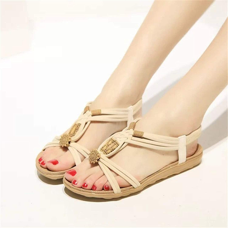 Women Sandals 2019 Summer Shoes Bohemia Women Shoes Beach Sandals Solid Women Flip Flops Casual Flat Sandalias Mujer