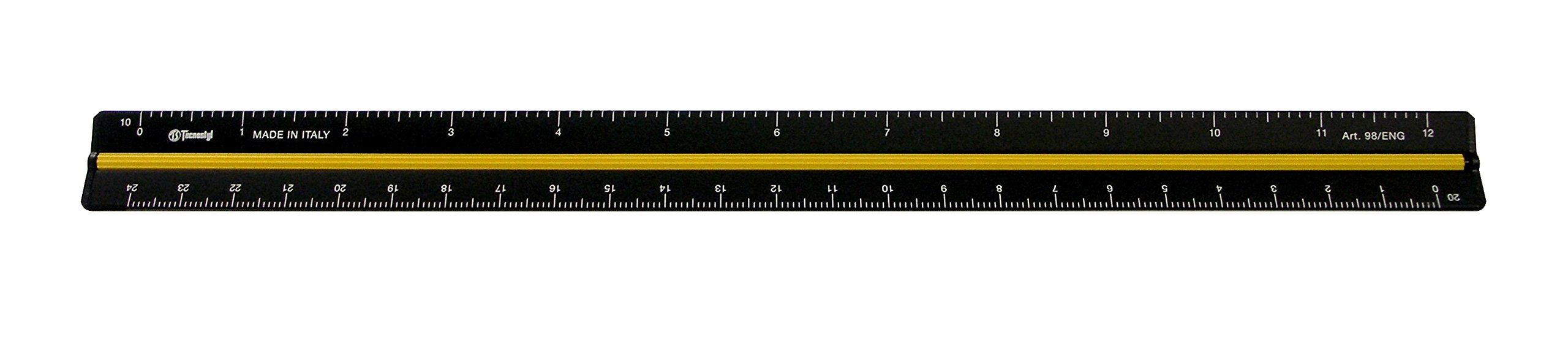 Alvin 98/ENG 12'' Black Aluminum Engineer Triangular Scale by Alvin (Image #1)