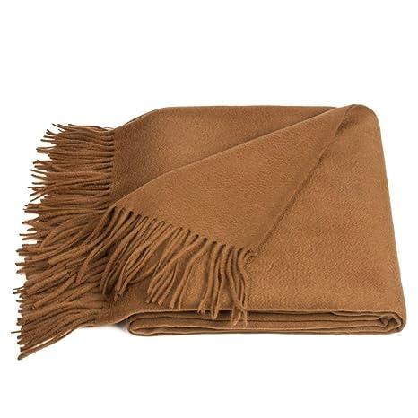 Amazon.com: Manta de lana de chocolate/marrón pleid: Home ...