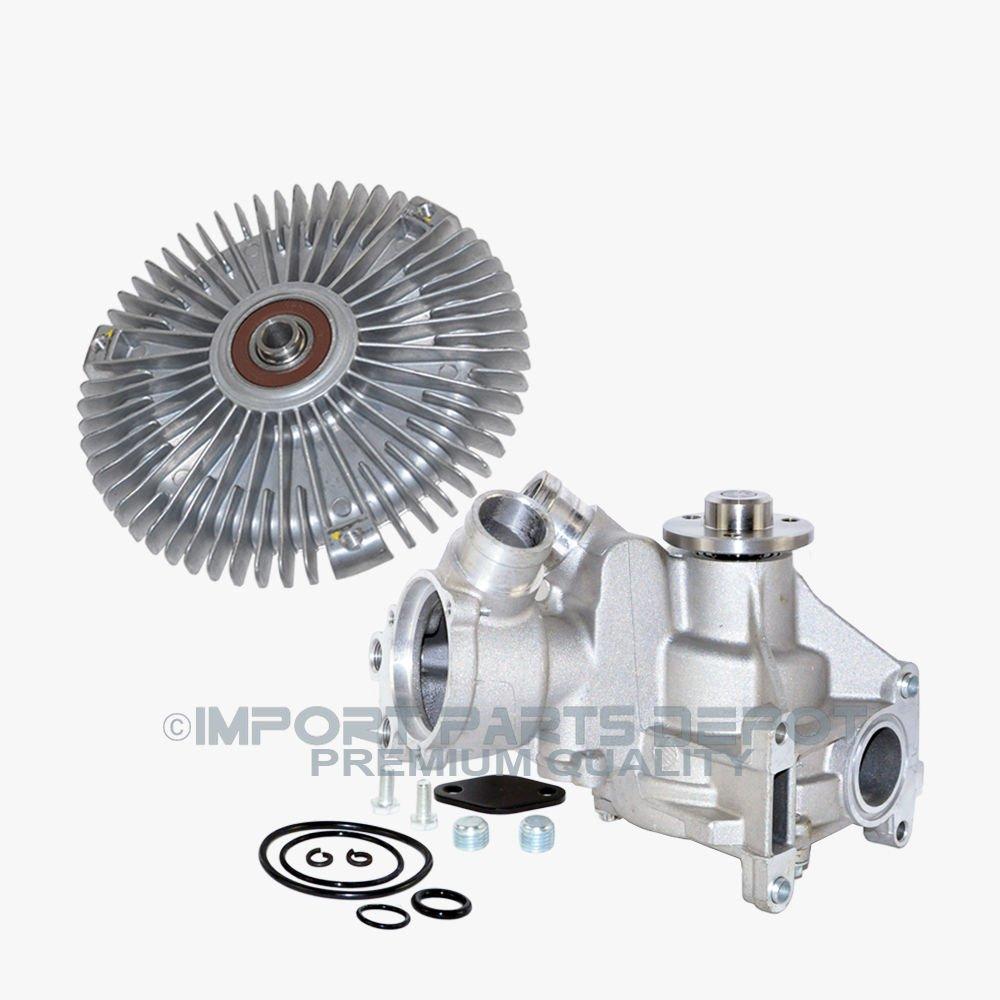 Amazon.com: Water Pump + Fan Clutch Kit for Mercedes-Benz S320 3.2L Premium 1042004801/1032000622 New: Automotive