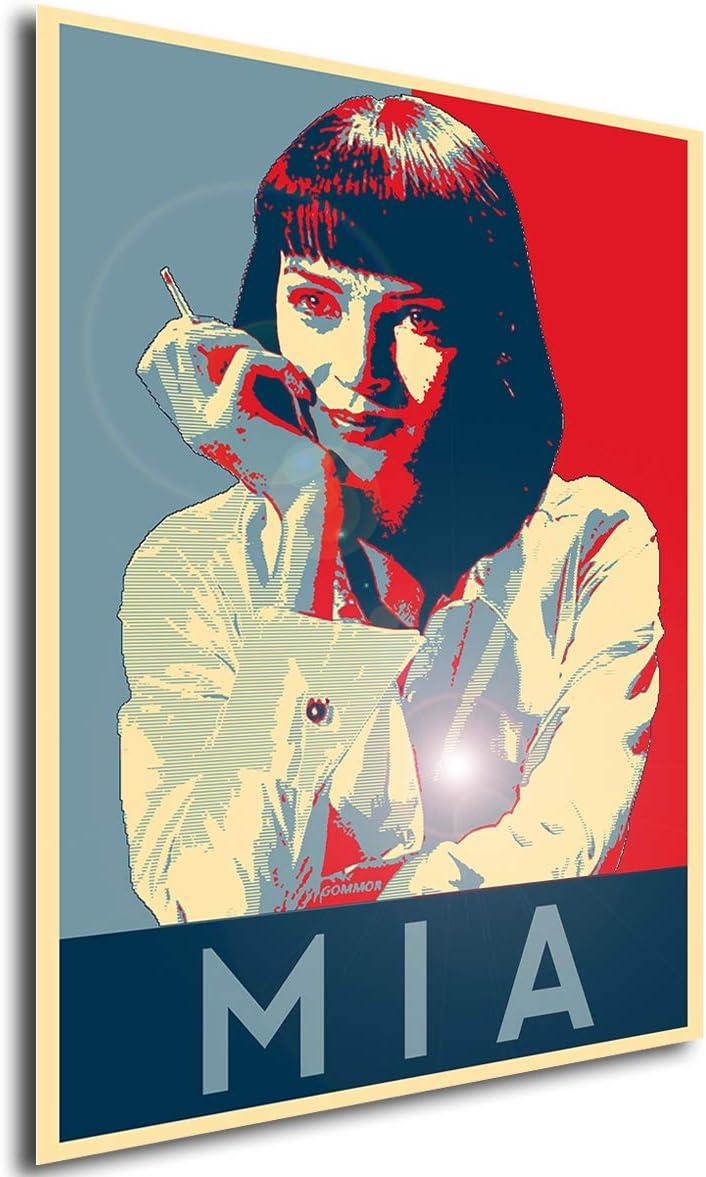 Poster Propaganda Pulp Fiction MIA Wallace A4 30x21