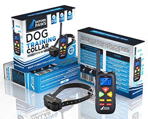 2018 NEW - Dog Shock Collar with Remote, 100% Waterproof Dog Training Collar with 3 Adjustable modes [Beep / Vibrate / Shock], 1500 ft range, Lightweight & Durable. Perfect for large/small dogs. by OXFORD PAWS