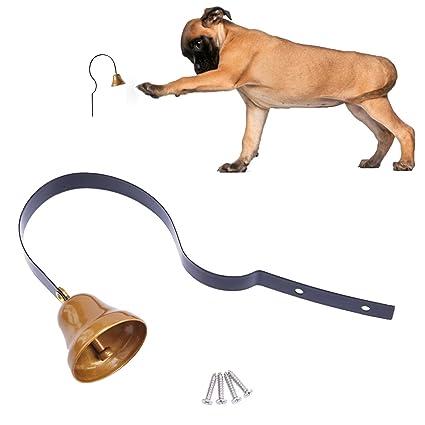 Amazon Lxlp Metal Tinkle Dog Bell Pet Door Bell Hanging Brass