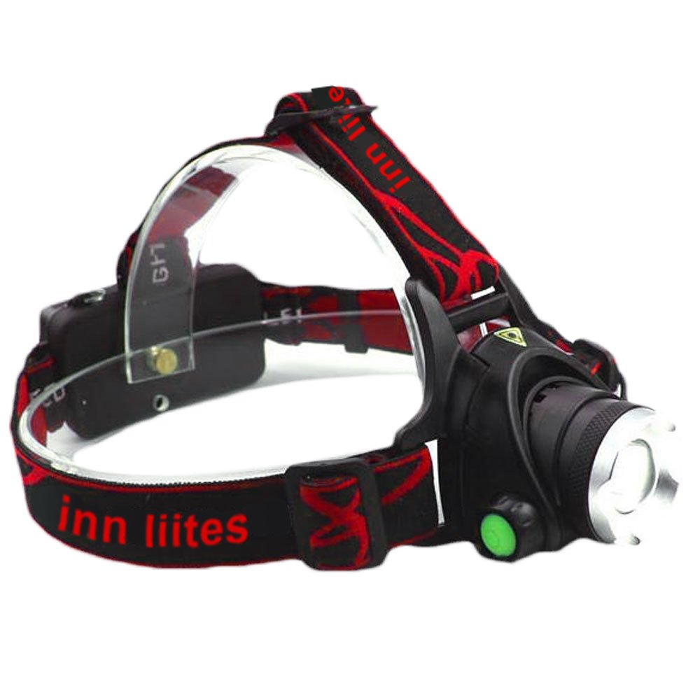 - LED Headlamp - Hands free Flashlight Zoomable Indoor Outdoor Running Hiking Working Jogging, Auto mechanics, and Emergencies CREE XM-L T6 LED Bulbs - 3 modes of lights
