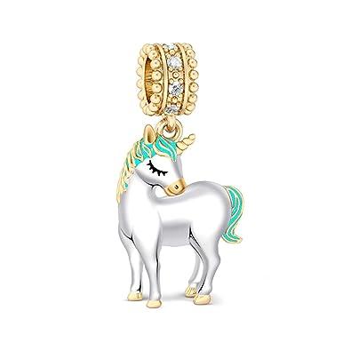 Amazon Com Gnoce Unicorn Charms 925 Sterling Silver For Bracelets