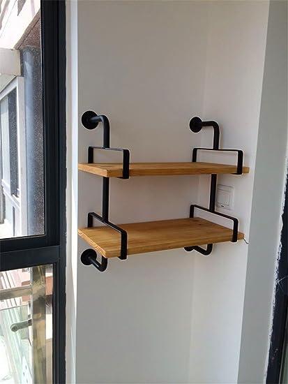 Hierro Arte madera maciza estante multicapa viejo sala de ...