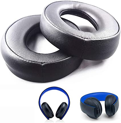 Replacement Ear Pads Earpads Cushion For SONY gold Wireless PS3 PS4 7.1 Headset