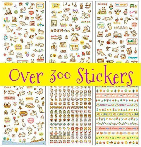 Lovely Cat Kitten Kitty Stickers (Over 300 (Stationary Stickers)