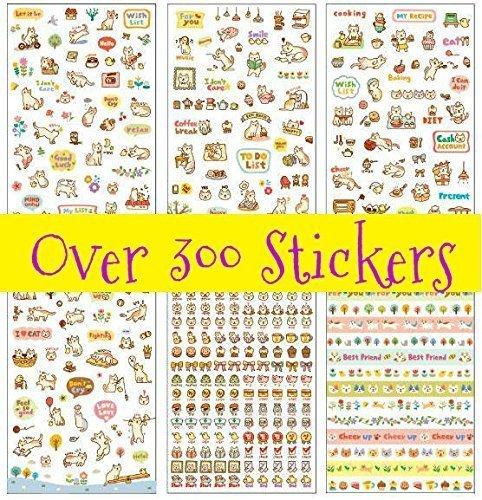 Lovely Cat Kitten Kitty Stickers (Over 300 Stickers)