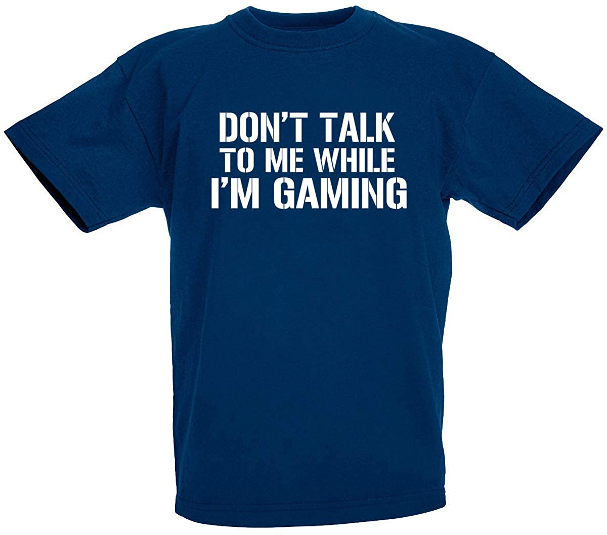 loltops Don't Talk to Me While I'm Gaming Novelty T-Shirt Boys, Teens