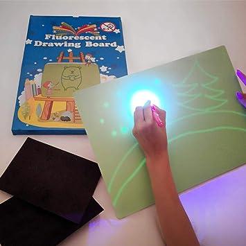iLight - Pizarra Infantil Mágica de Dibujo con Luz Real – Juego de Pintar para Niños