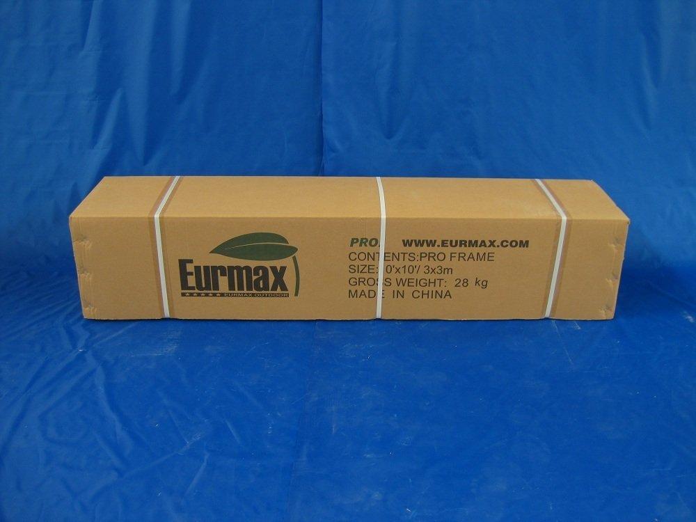 Eurmax Premium 10 x 10 Pop up Canopy Instant Party Tent With Side Walls Aluminum Foot Legs Commercial Grade Party Tent Gazebo Bonus Roller Bag (Black)