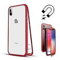 Coollee Métal Cadre Adsorption Magnétique Flip Cover Case pour Apple iPhone