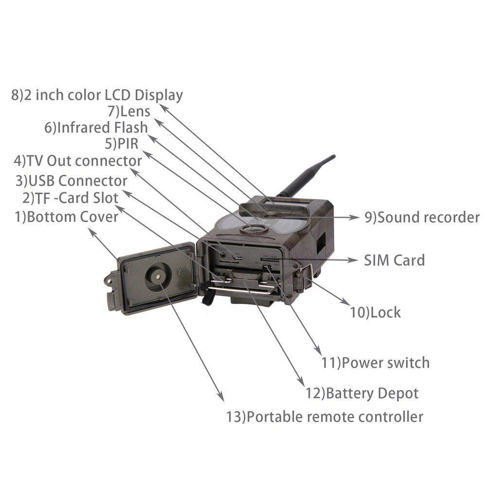 hc-350 m Trail Cámara 16 Mp Hd 1080P visión nocturna por infrarrojos cámara para observar la naturaleza 2.0