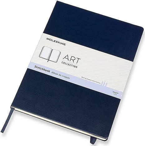 Moleskine Art Sketchbook Hard Cover A4 8 25 X 11 75 Plain Blank Sapphire Blue