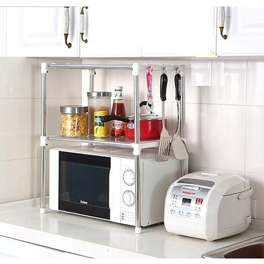 Asien cocina estante de almacenamiento de acero inoxidable horno de microondas estante accesorio de 12