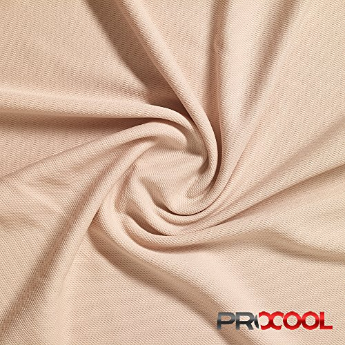 ProCool Athletic Pique Mesh (Made in USA, Nude, sold by the yard)