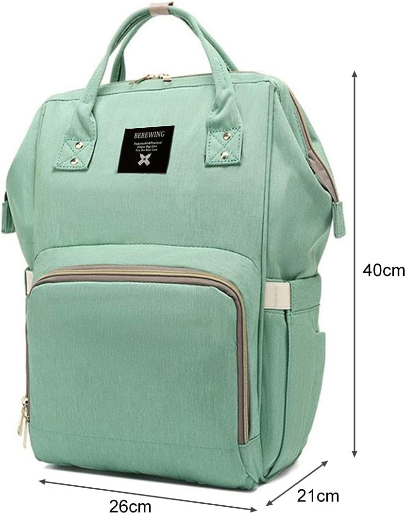 Green Mooedcoe Baby Nappy Changing Bag Rucksack Diaper Bag Nappy Changing Backpack for Mom and Dad
