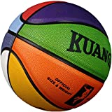 "Kuangmi Colorful Street Basketball for Women Girls Youths Intermediate Size 6(28.5"")"