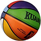 Kuangmi Colorful Street Basketball for Women Girls Youths Intermediate Size 6(28.5')