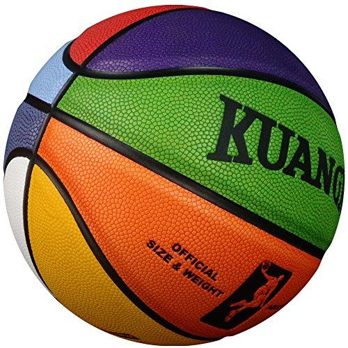 Kuangmi Colorful Street Basketball Child Kids Boys Girls Youths Children Size 5(27.5)