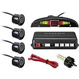 LED Display Parking Sensor,Car Reverse Backup Radar System,LED Display+Buzzer Alert+4 Black Color Parking sensors for Univers