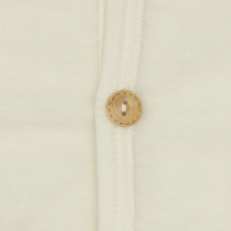 Cosilana Baby J/äckchen mit Rundhals und Holzkn/öpfen aus weichem Wollfleece 100/% Schurwolle kbT