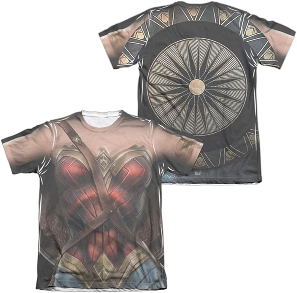 Wonder Woman HANDS FULL 2-Sided Sublimated All Over Print Poly T-Shirt