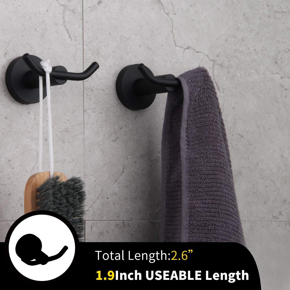 Amazon.com: Gancho de baño negro mate SUS 304 de acero ...