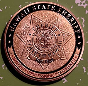 Hawaii State Sheriff Police Challenge Art Coin