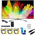 """LG 65"""" Super UHD 4K HDR Smart LED TV (65SJ8500) with Sound Bar Flex Audio System, 3x 6ft HDMI Cable, Universal Screen Cleaner for LED TVs, 6 Outlet Wall Tap w/ 2 USB Ports & 6ft Optical Audio Cable"""