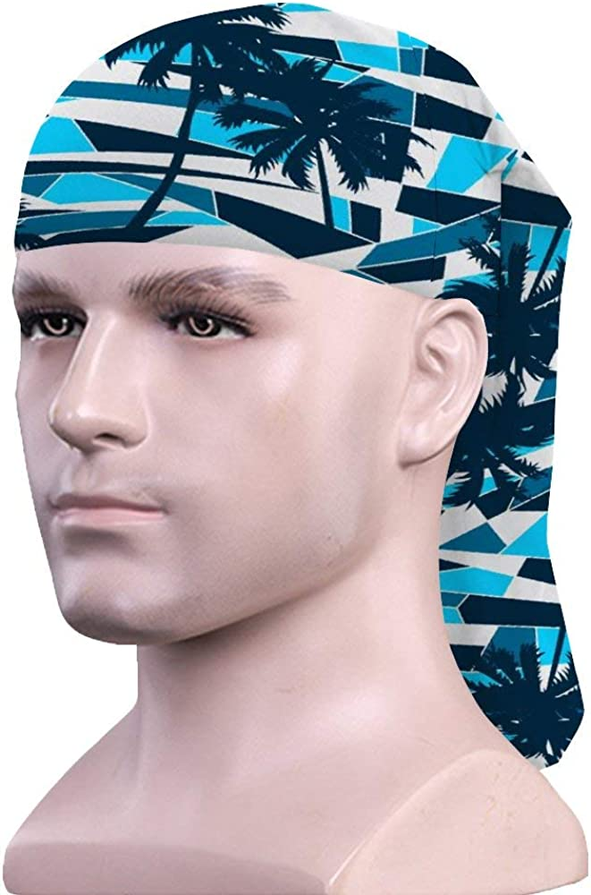 Stylish Scarf Abstract Surf Pattern With Palm Trees Pattern windproof dust-proof Sports headscarf//face cover