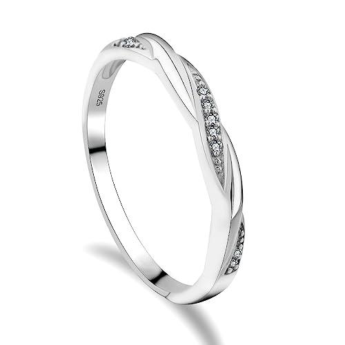 GULICX Mujer plata de ley (925) plata blanco circonita